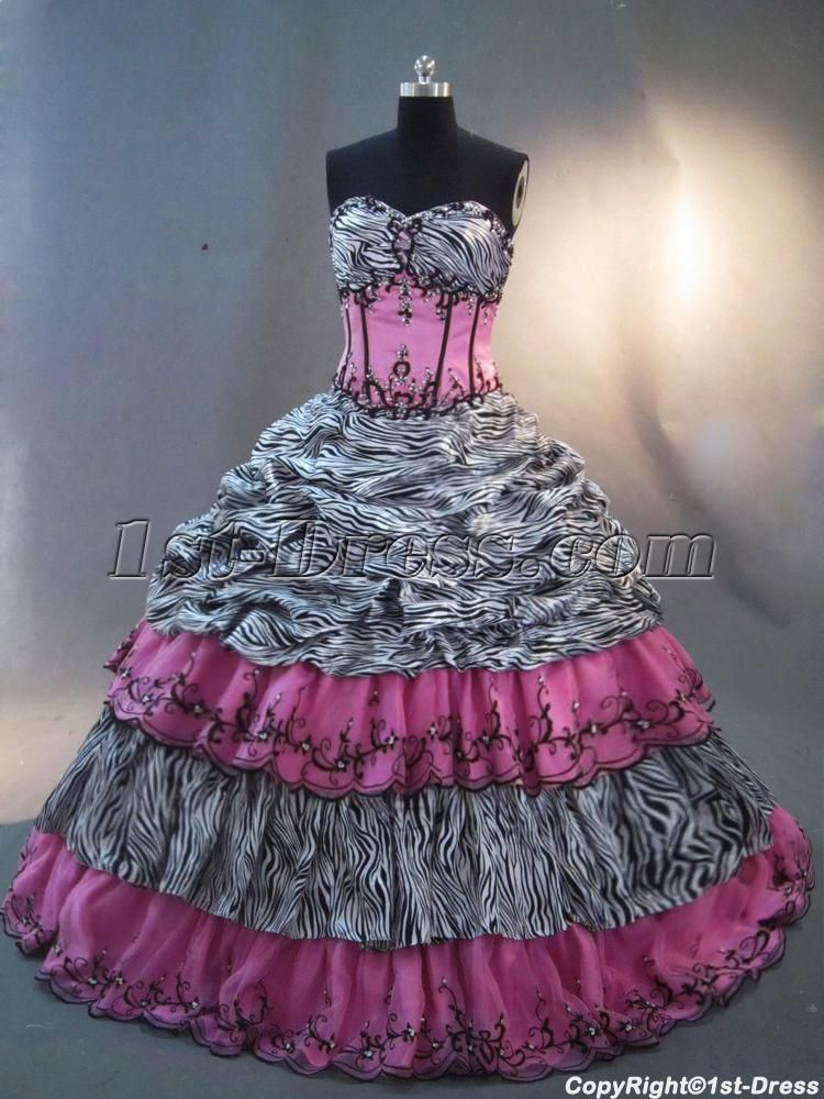 1000  images about Zebra Quinceanera Dresses and Leopard ...
