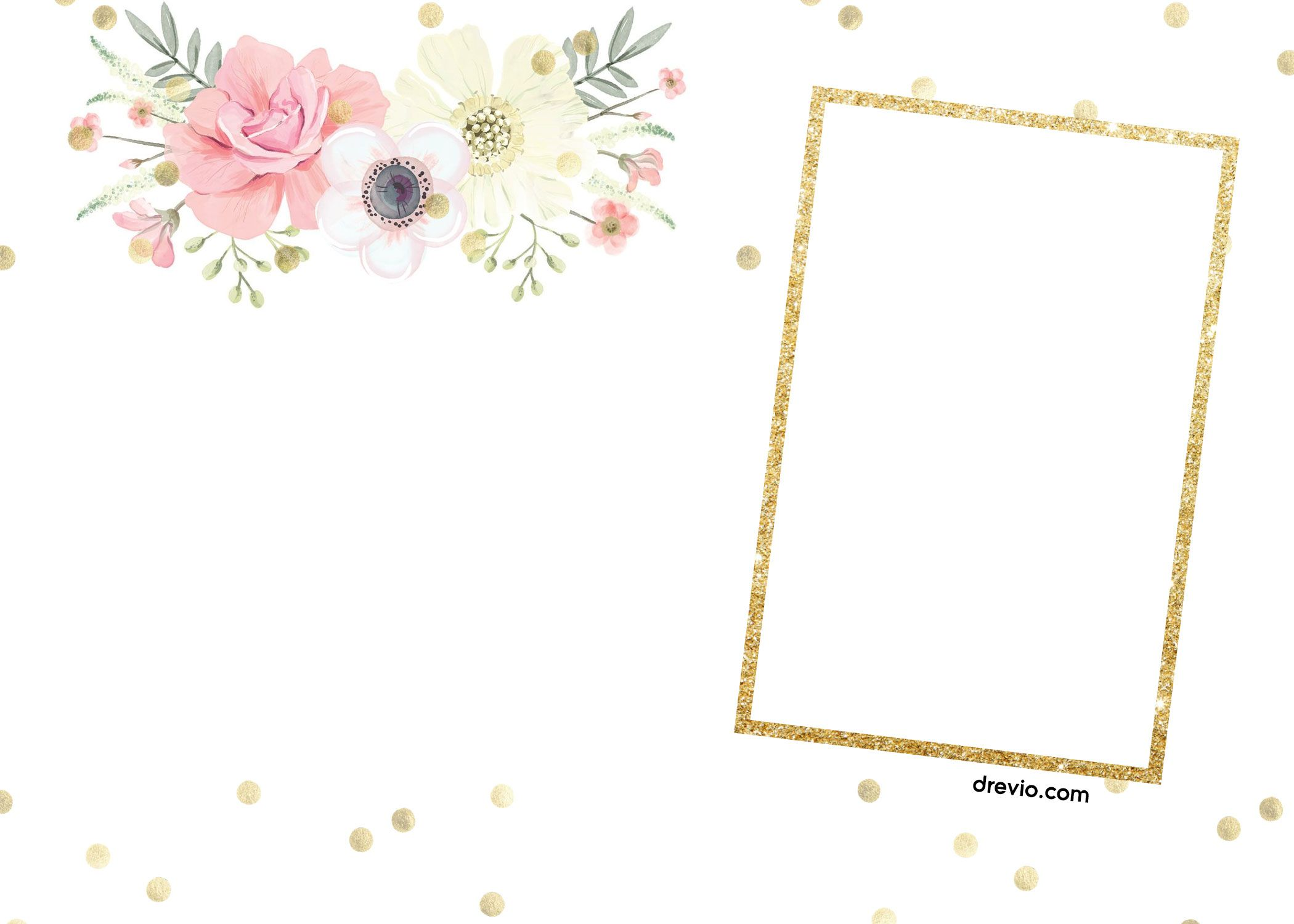 Dedication invites floral dedication invites First Communion invites glitter invite Minnie cross girl dedication Invitation