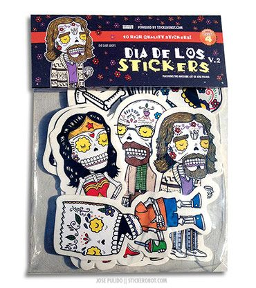 Support indpendent sticker artists jose pulido x stickerobot sticker packs