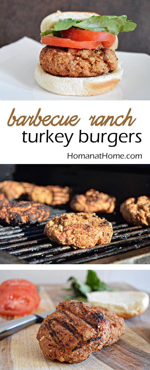 Barbecue Ranch Turkey Burgers -