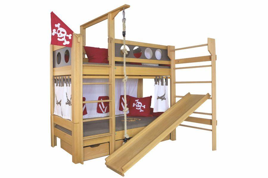 Etagenbett Piratenbett : Piratenbett mit rutsche hochbett pinterest bett piraten