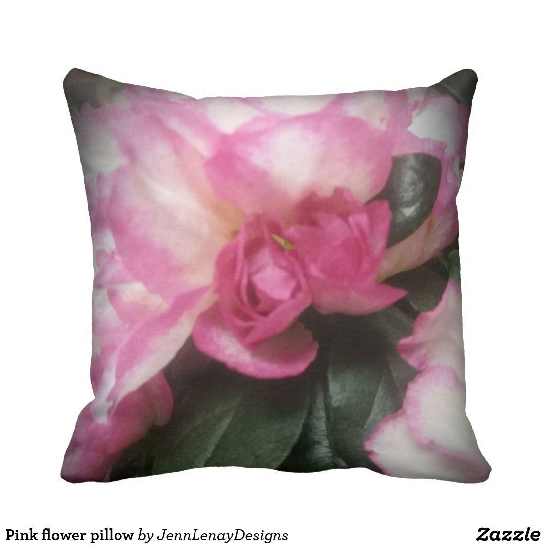 Pretty Pink Azalea Floral Throw Pillow Home Decor Pinterest