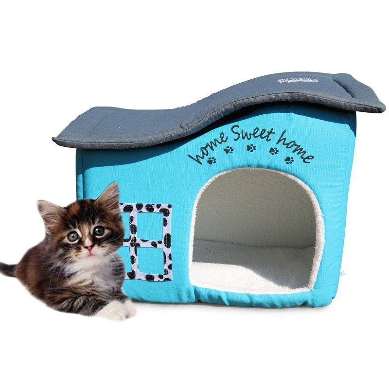 Barba Home Sweet Home Hooded Specialty Cat Bed Cat Bed Cat Houses Indoor Indoor Cat