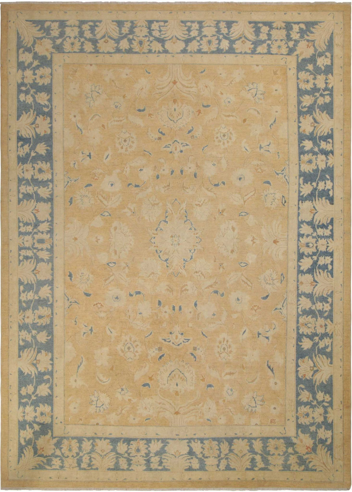 10x14 Tan Peshawar Ziegler Rug Dining Room Table Wool Area Rugs Family
