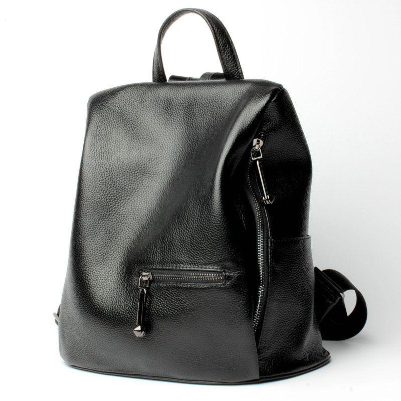 mochilas de nuevas negro mochila de originales cuero piel 2017 qEagwp7x