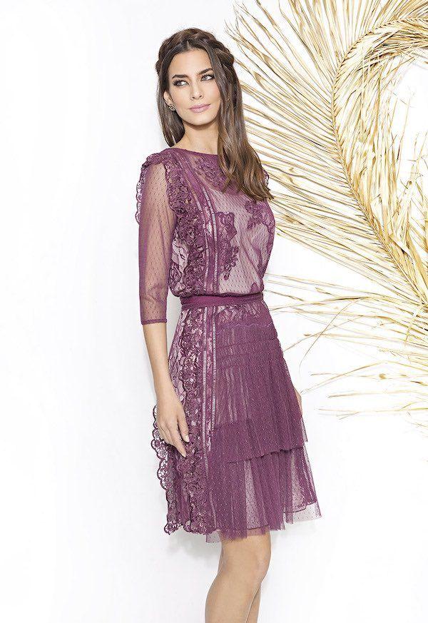 Vestidos de fiesta Cabotine 2018 violeta corto | Vestidos de fiesta ...