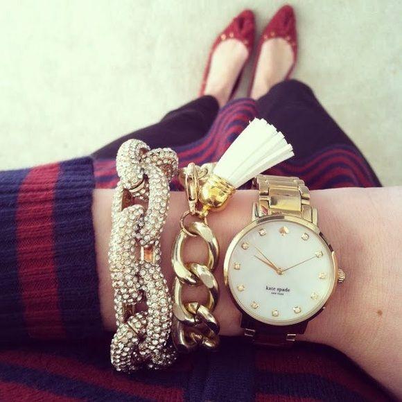 Pave crystal chain bracelet gold sparkle Metal alloy ships mid dec. pic 2 item for sale Jewelry Bracelets