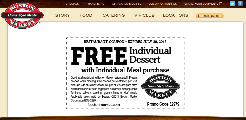 Pinned July 22nd Free dessert with your meal at Boston