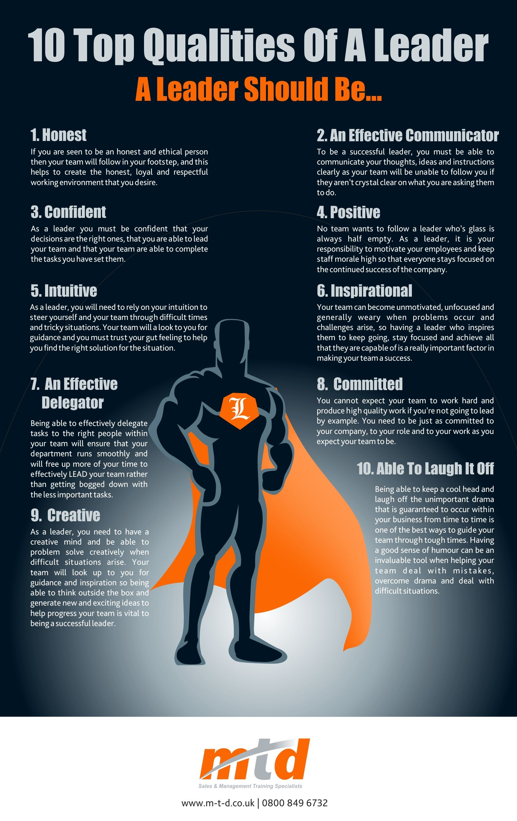 Mtd Training Top Qualities Of A Leader