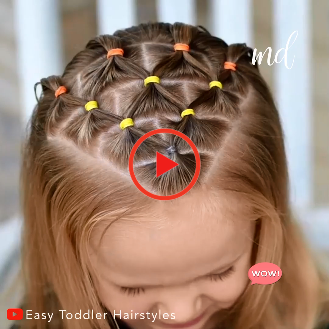 Candy Corn Elastique Coiffure Bonbons Corn Elastic Hairstyle Toddler Hairstyles Girl Fine Hair Girls Hairstyles Easy Easy Toddler Hairstyles