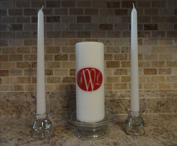 Unity candle vinyl decal 3x2 inch vinyl decal stickers candle not included