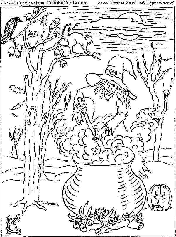 Halloween Coloring Pages Advanced : Advanced halloween coloring pages