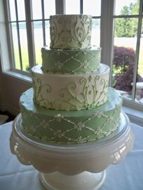 WOW~  gorgeous wedding cake.  but any of these layers would make perfect special occasion cake! from A Tier Above