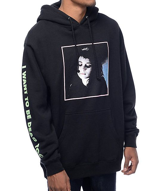 9cb0d6d22642 Flying Coffin is a macabre inspired street wear brand that brings edgy  style to your wardrobe. The Lydia black hoodie from Flying Coffin features  a square ...
