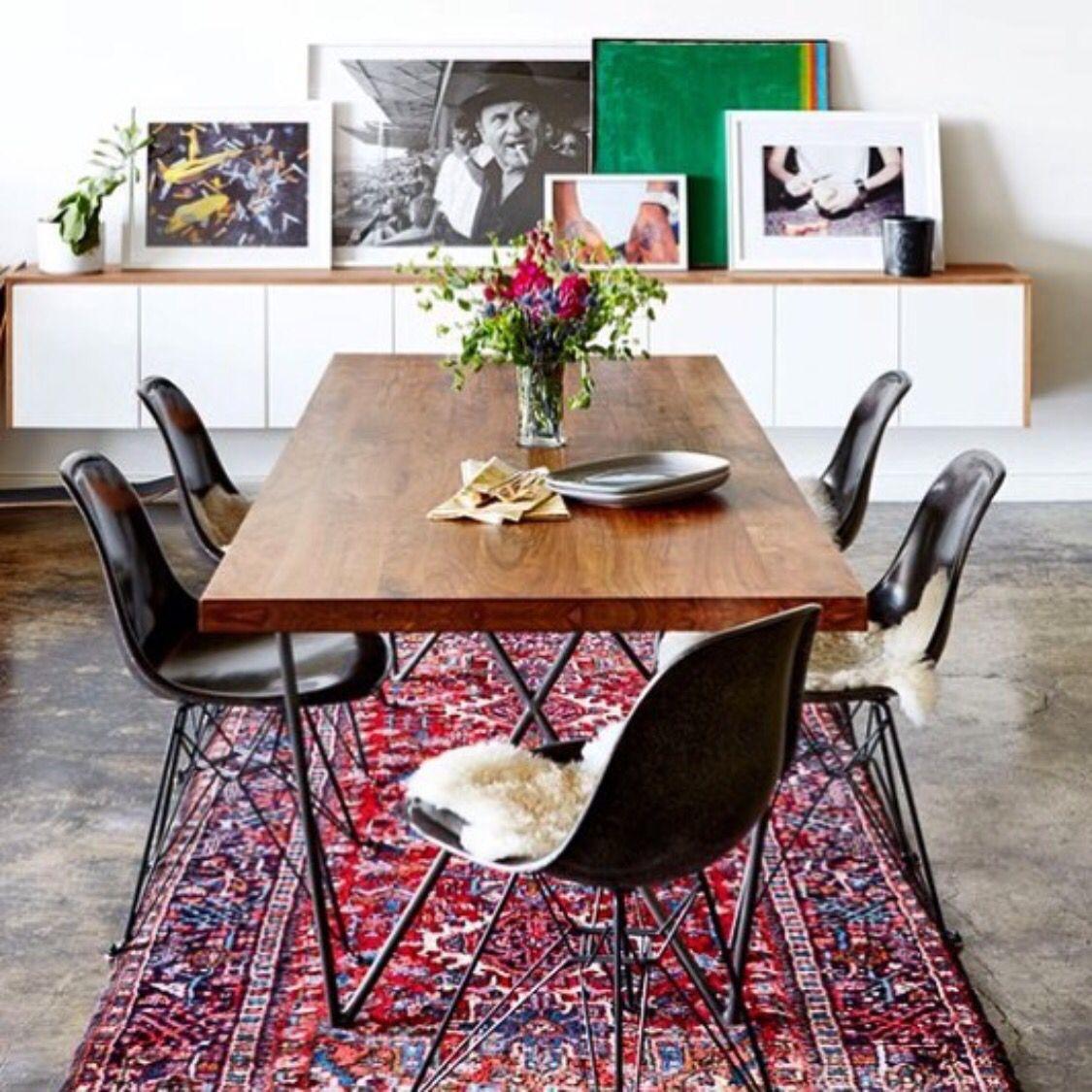 Display arte comedor sillas negro moderno