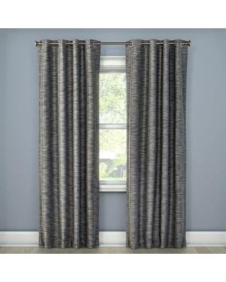 Eclipse 95 X50 Tara Stripe Blackout Curtain Panel Gray Eclipse