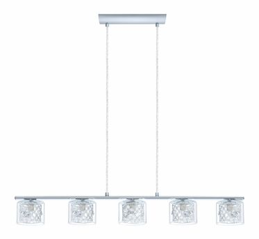 Pianella Collection Chrome 5x60w Trestle Light Clear