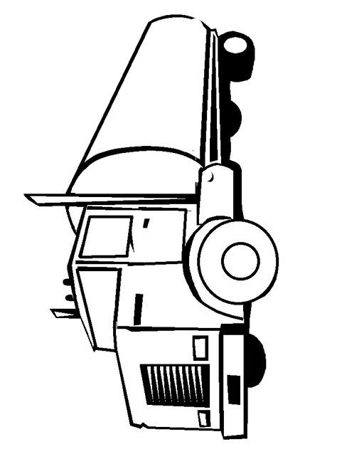 I love this semi truck for a screen print or something