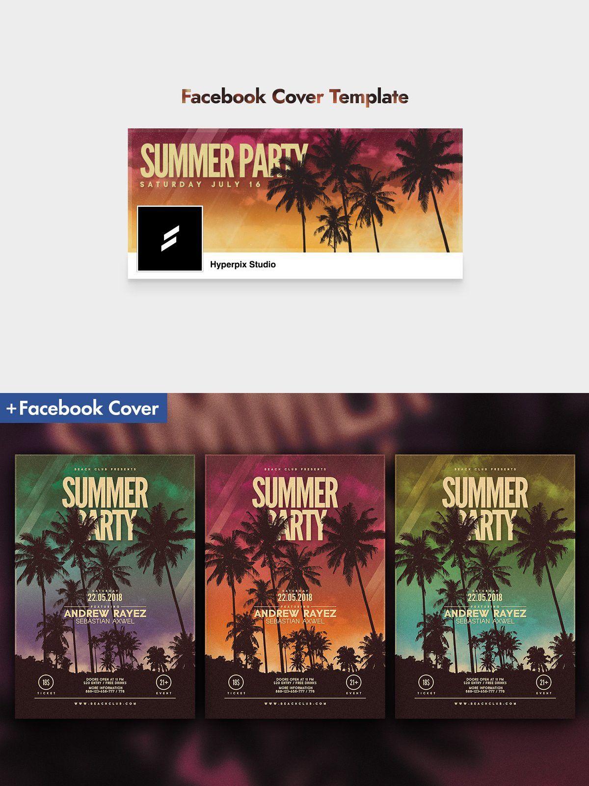 Summer Flyer Template Facebook cover template, Flyer