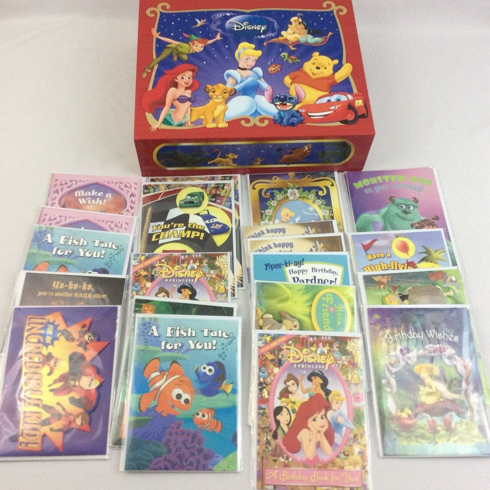 Disney birthday greeting card lot of 25 cards and envelopes keepsake disney birthday greeting card lot of 25 cards and envelopes keepsake storage box kristyandbryce Choice Image