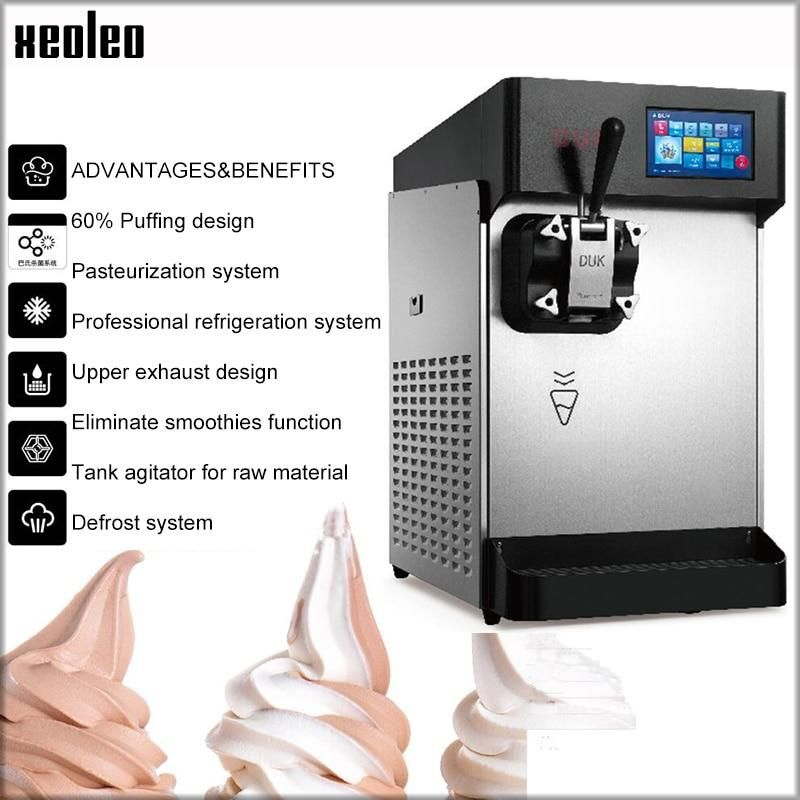 XEOLEO Single flavor Ice cream maker Single tank 248pcs/H 2500W Soft ice cream machine Night fresh Pasteurization Yogurt machine #icecreammaker