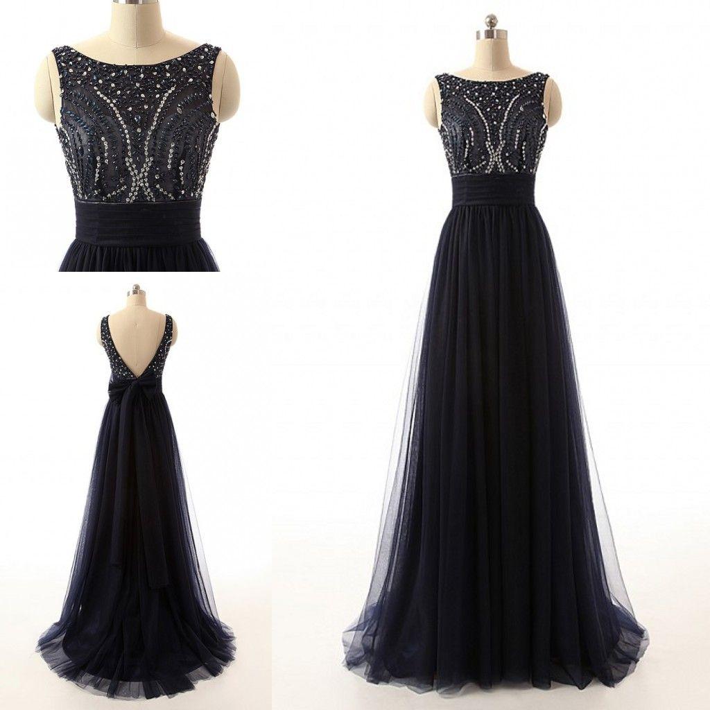 Black prom dressessparkle evening black prom dresses