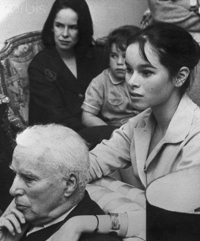 Charlie Chaplin with Wife and Children - U1185063 - Rights Managed ...