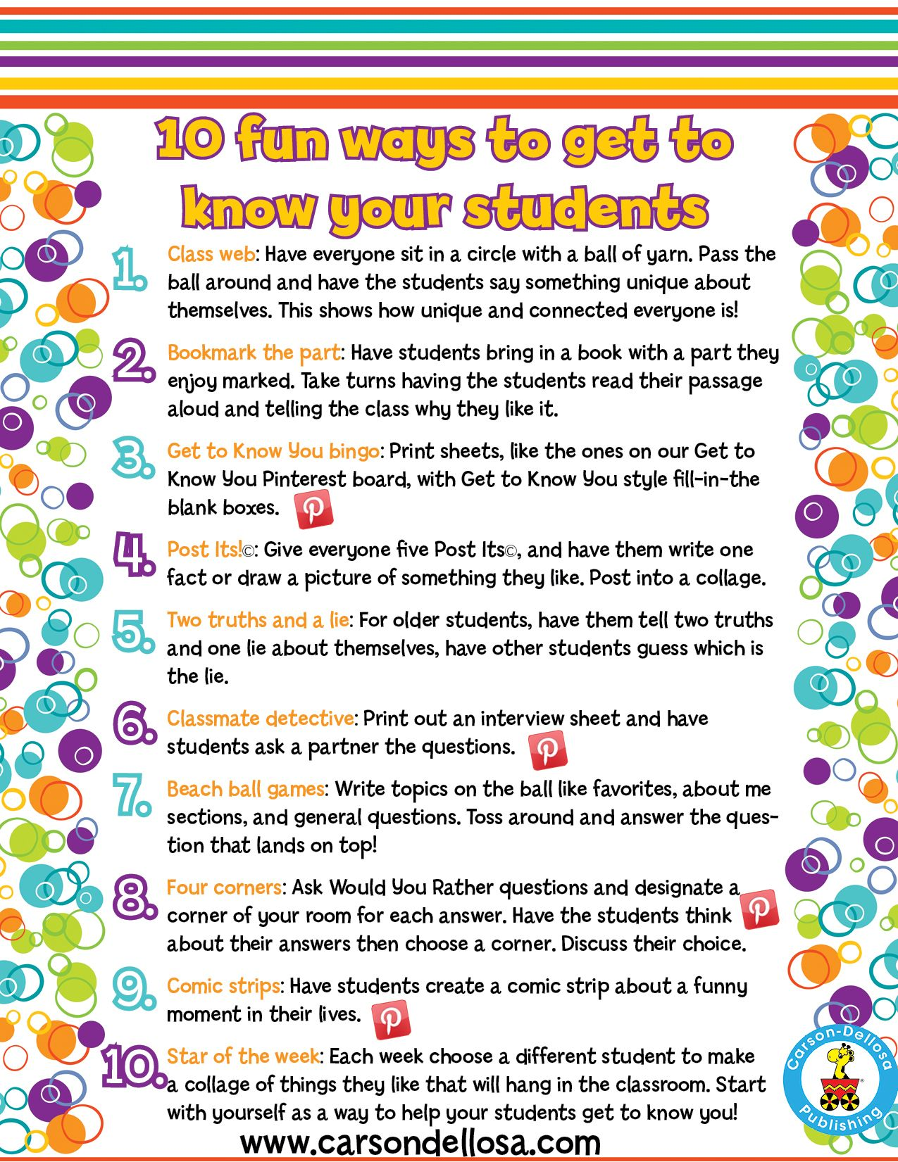 Activities For Back To School Maybe This List Of Ways To