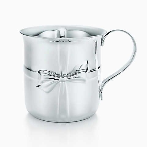 Tiffany Bows cup in sterling silver.