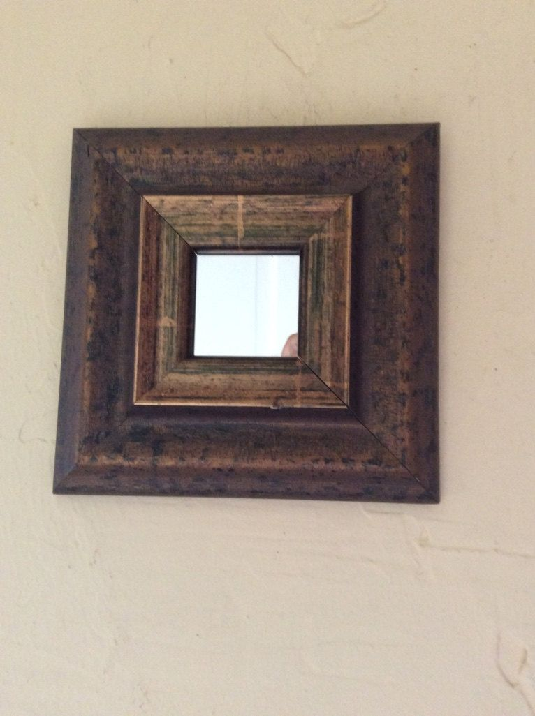Stylish small square mirror with oversized frame | Small mirrors ...