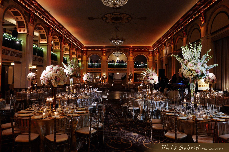 Beautiful Ballroom At The Ben Wedding Philip Gabriel Photography In 2020 Ballroom Photography Wedding
