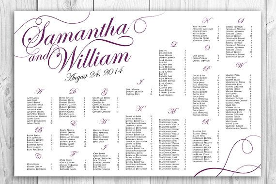FREE RUSH SERVICE 24 hours  Wedding Seating Chart  by HappyBlueCat, $40.00