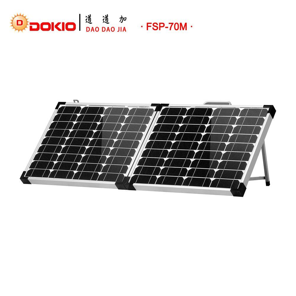 Dokio Brand 70w 2pcs X 35w Solar Panels China 10a 12v 24v Controller Foldable Panel Solar Easy To Carry Cell System Charg Solar Panels Solar Roof Solar Panel