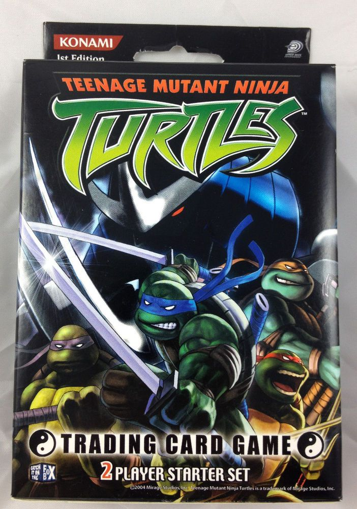 Teenage Mutant Ninja Turtles Tmnt Trading Card Game 2 Player Starter Set Konami Ninja Turtle Games Teenage Mutant Ninja Turtles Tmnt