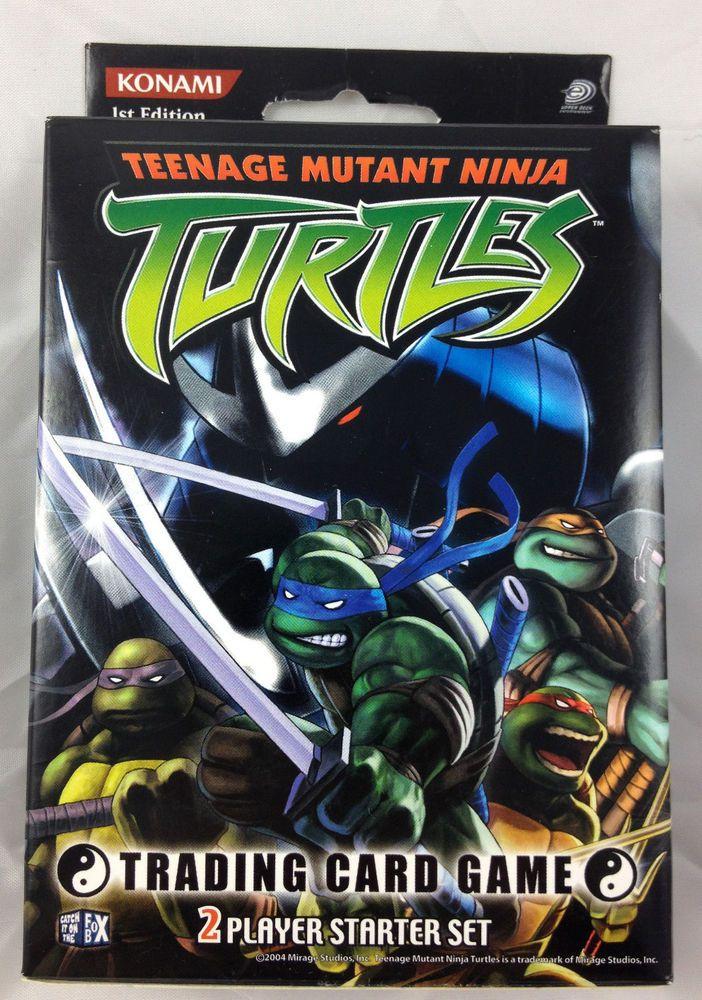 Teenage Mutant Ninja Turtles Tmnt Trading Card Game 2 Player Starter Set Konami Ninja Turtle Games Teenage Mutant Ninja Turtles Tmnt
