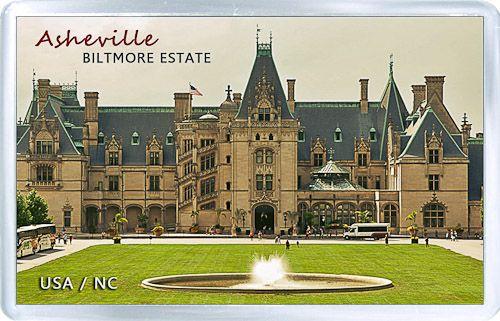 $3.29 - Acrylic Fridge Magnet: United States. Asheville. Biltmore Estate View
