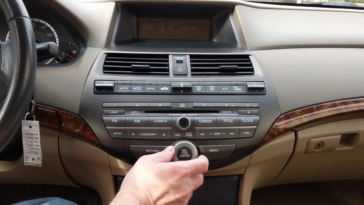 2010 honda accordretrieving and entering radio security