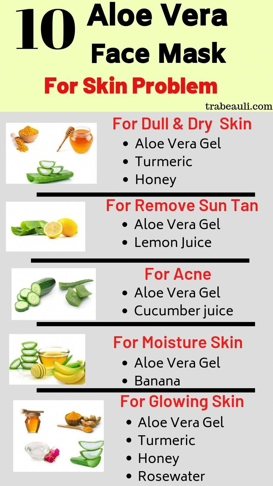 10 DIY Aloe Vera Face Mask For Skin care and Acne  Aloe vera face