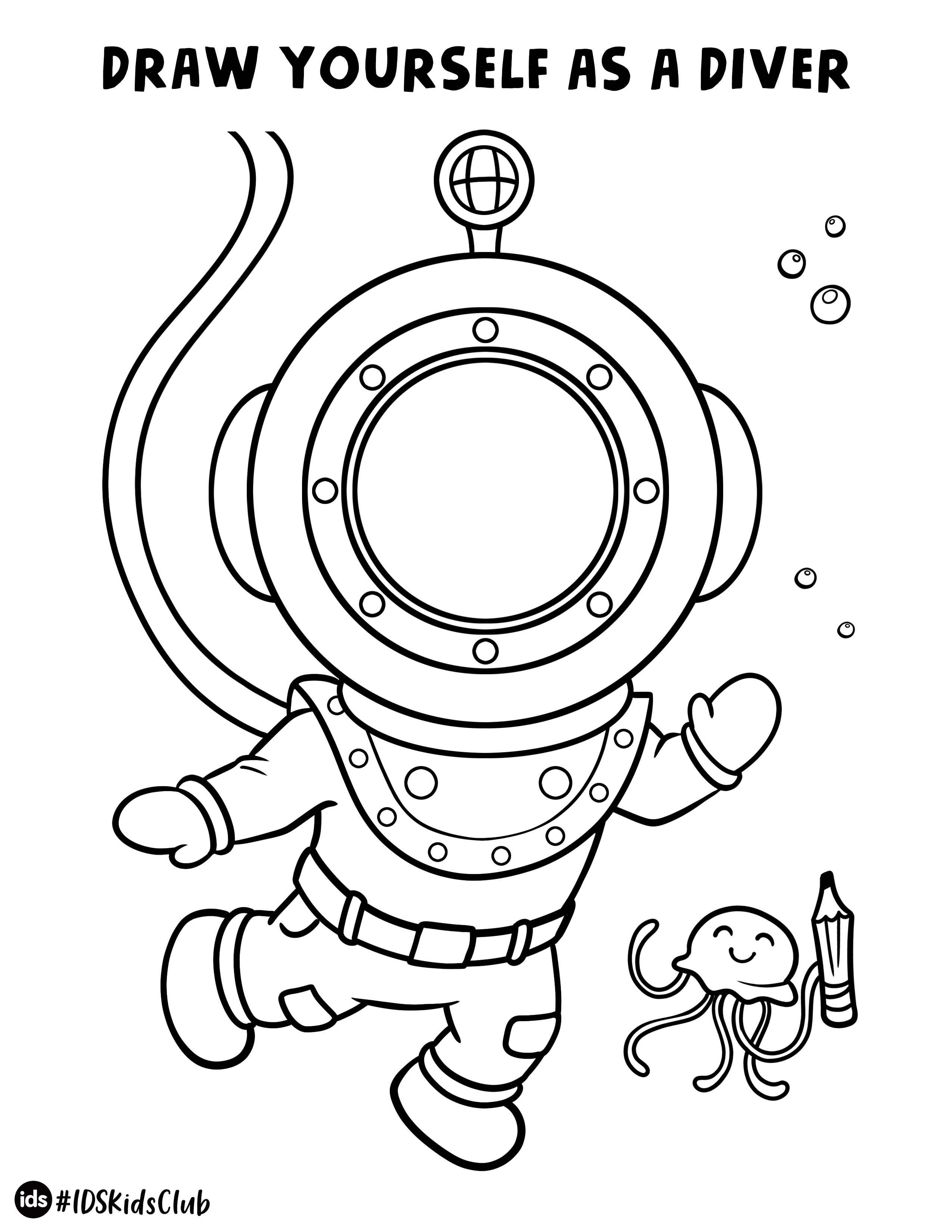 Draw Yourself Activity Sheet Underwater Themed Drawing Activities Activity Sheets Coloring Pages