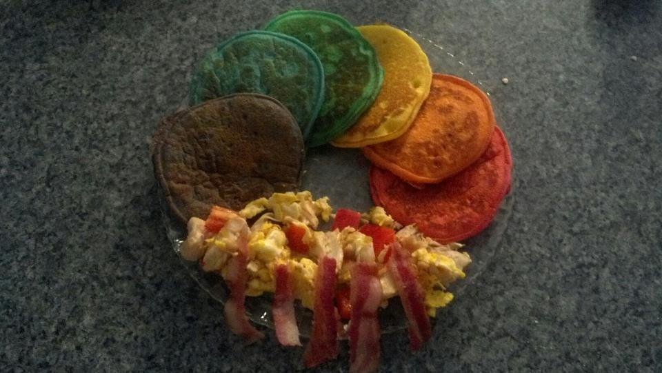 Rainbow cakes rainbow cake food breakfast
