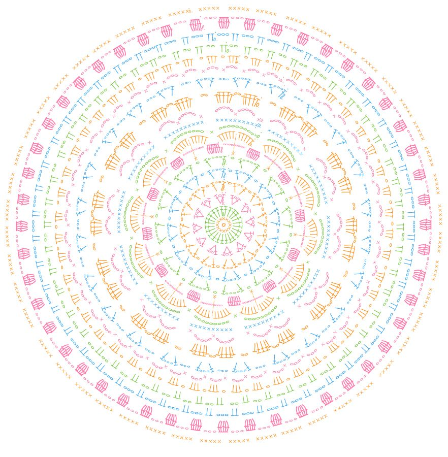 Crocheted Mandala free crochet pattern | Crochet | Pinterest ...