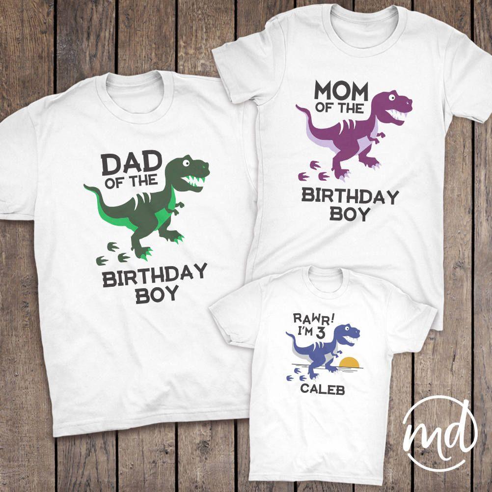 1bb93611 Dinosaur Birthday Matching Family Shirts Mom Dinosaur Dad | Etsy ...