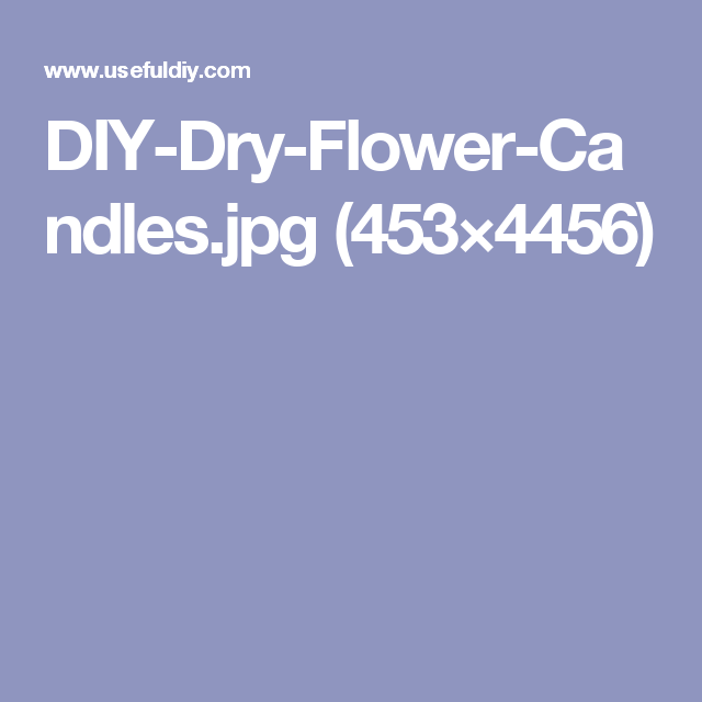 DIY-Dry-Flower-Candles.jpg (453×4456)