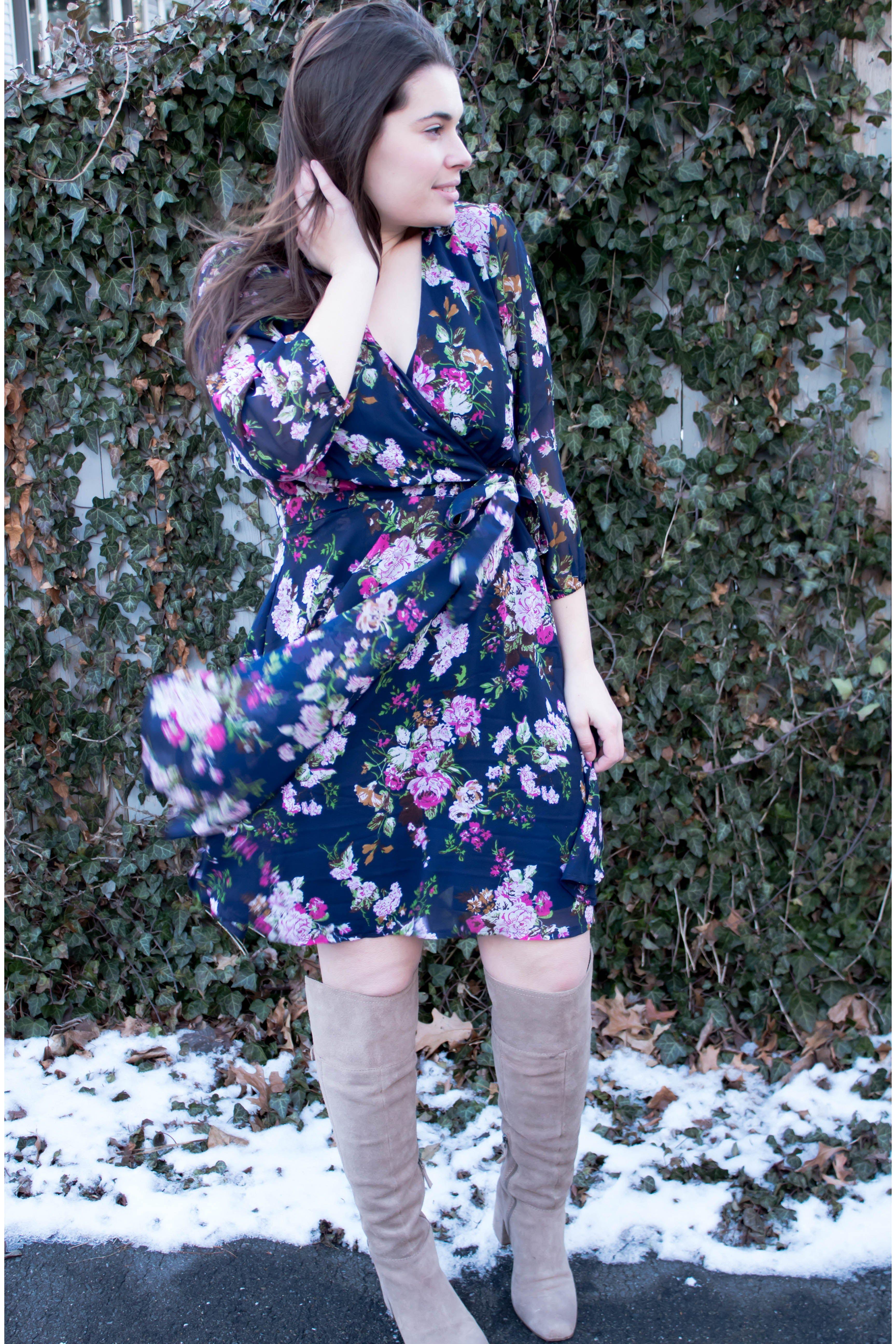 dress + OTK boots
