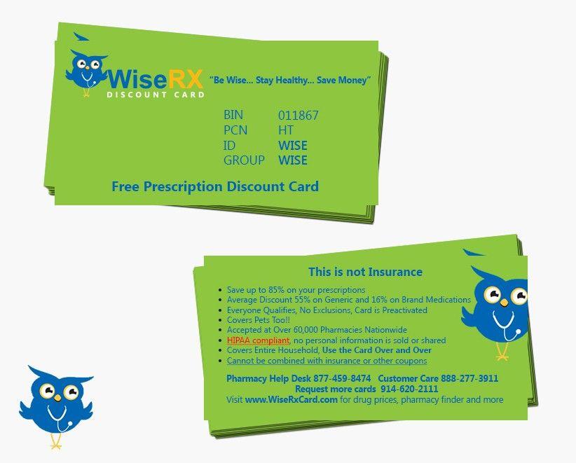 freelance Create a Prescription Discount card... all info and Logo ...