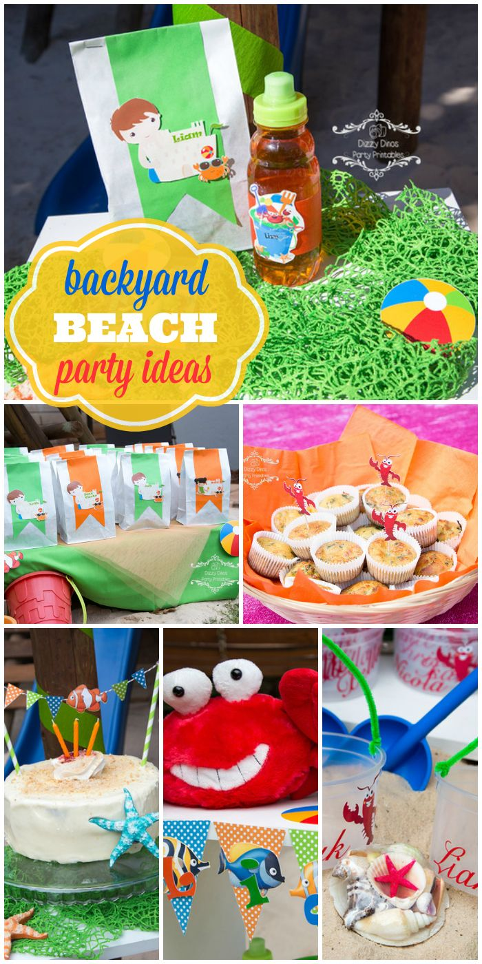 Beach Balls And Sandcastles Are At This Backyard Beach Boy