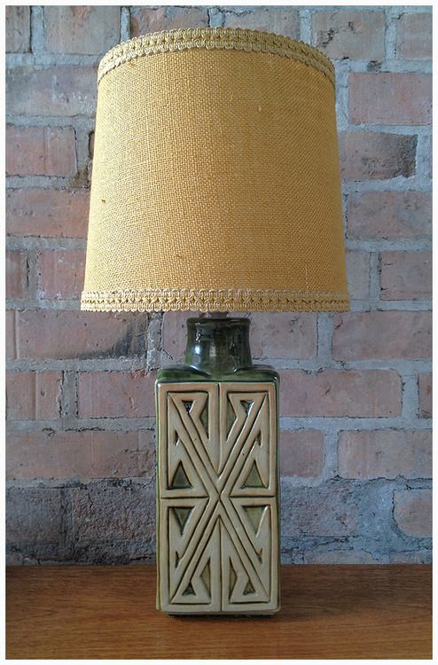 Super Stylish Vintage Irish Pottery Lamp Base With A 1960s French Shade Dimensions 50cm High Approx Poa Paul Retrorumage G Pottery Lamp Cool Lighting Lamp
