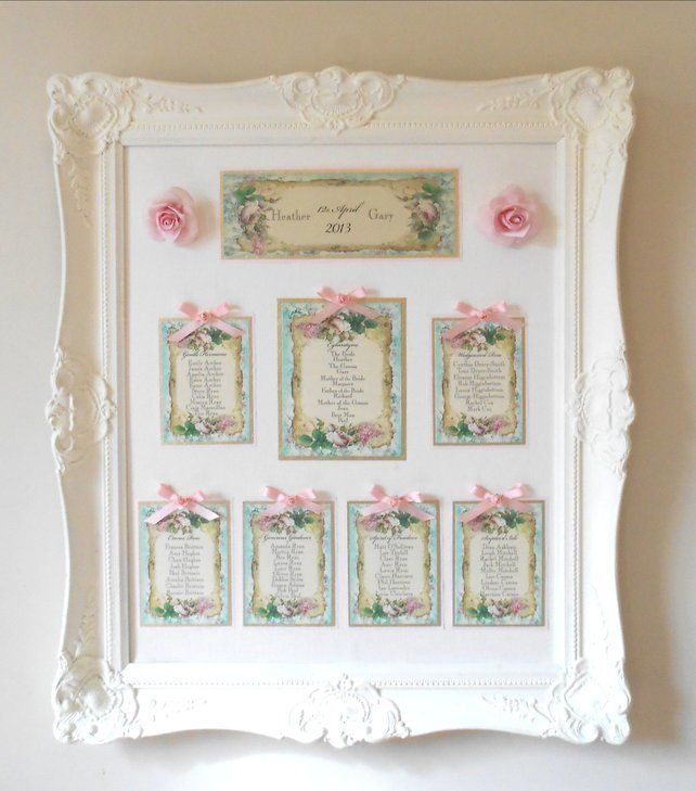 Vintage Wedding Table Plan (Ref 131) Rose Gold Frame £30.00 ...