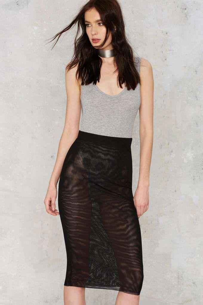 Nasty Gal Fresh Start Mesh Skirt - Black | Shop Clothes at Nasty Gal!