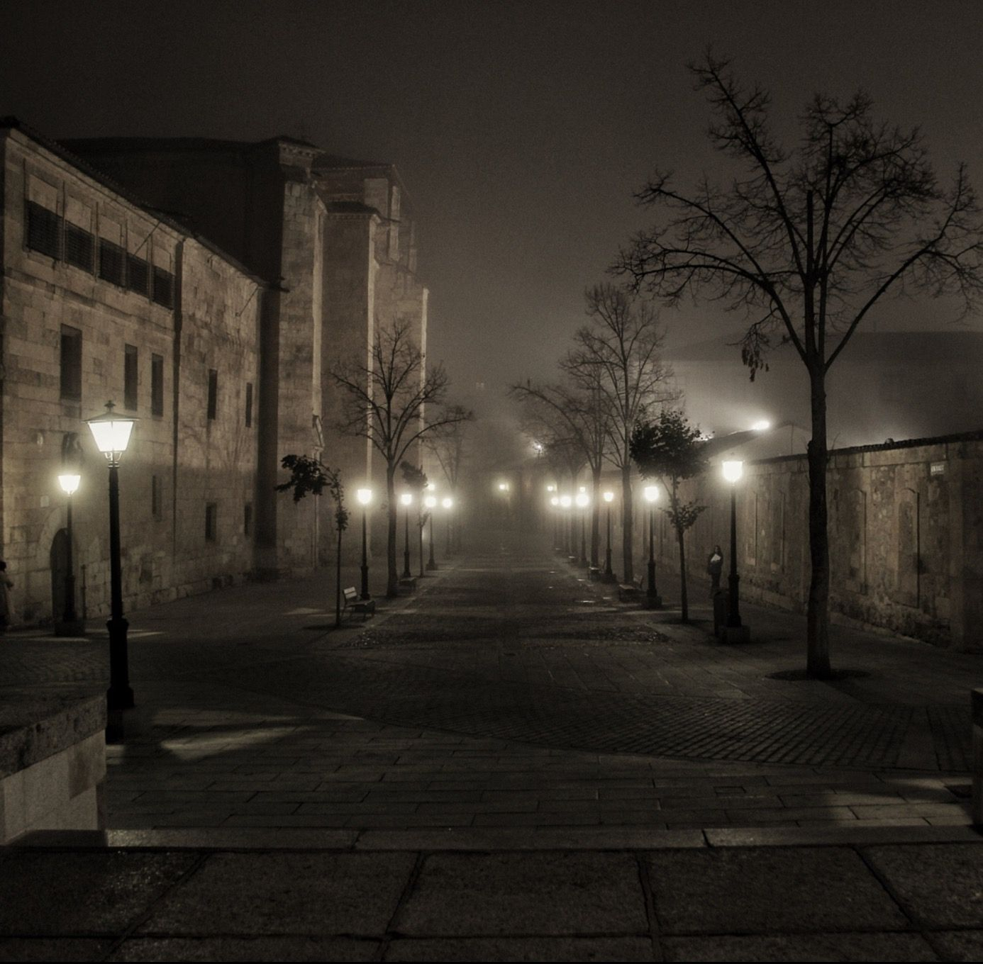 Foggy night  by Daniel de Arriba (Salamanca, Spain)